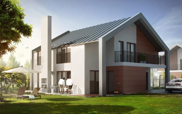 Projekt domów ekologicznych