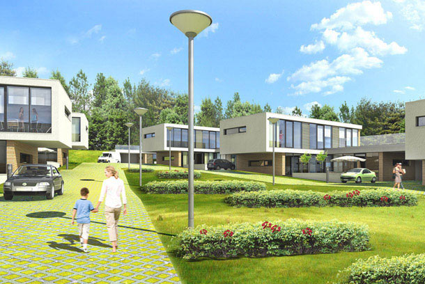 Projekt osiedla domów jednorodzinnych