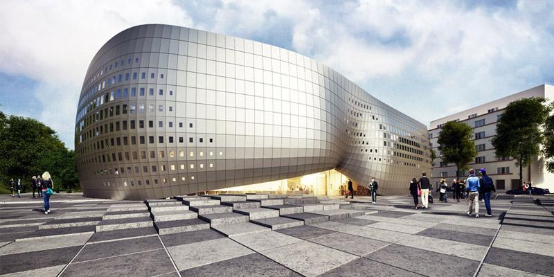 Gdyńska Szkoła Filmowa, II Nagroda w konkursie. Projekt: Mobius Architekci