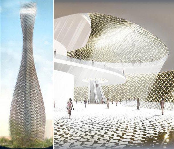 Projekt konkursowy wieży w Tajwanie