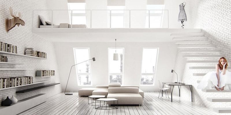 Projekt wnętrza loftu