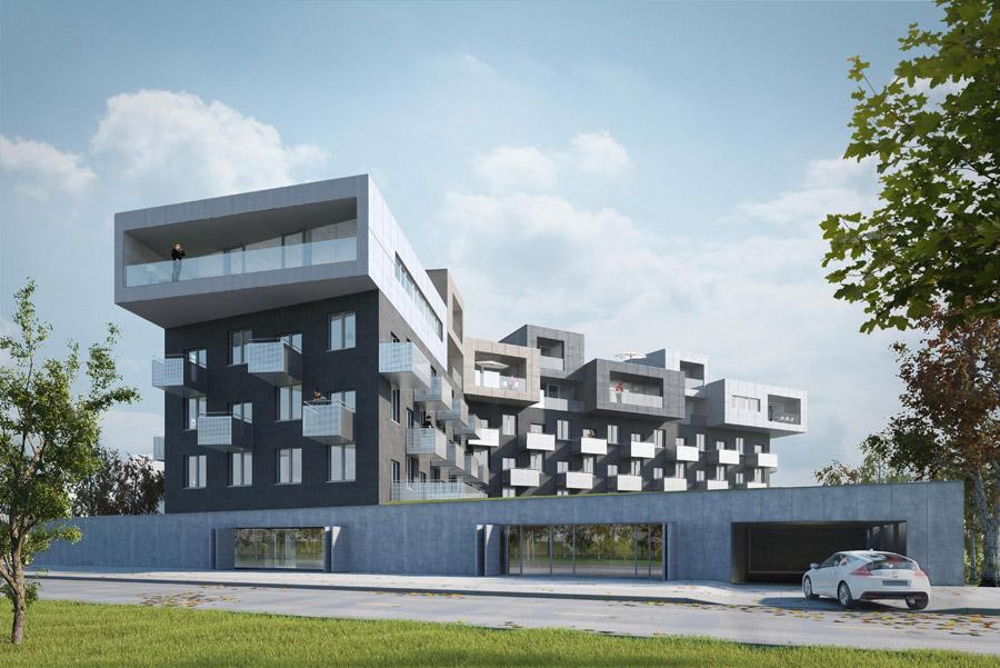 Budynek mieszkalny Baildomb, Katowice. Projekt: Robert Konieczny - KWK Promes