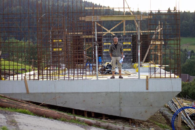 Arka Koniecznego w Brennej - Dom Własny Roberta Koniecznego (budowa). Zdjęcie: Wojciech Trzcionka