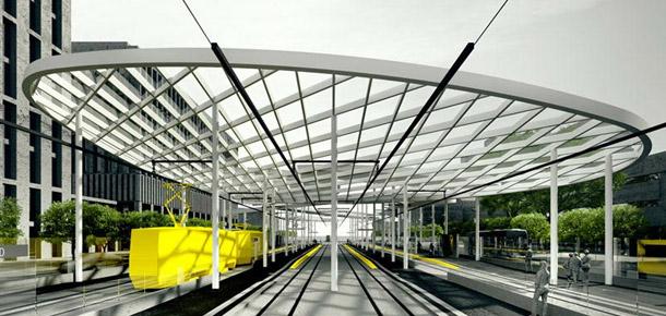 Projekt przystanku Piotrkowska Centrum
