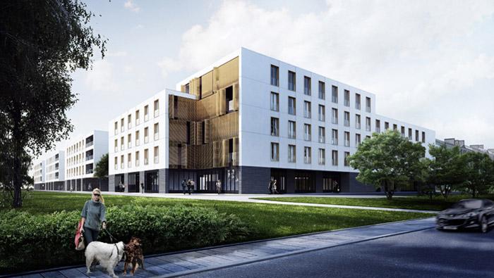 Projekt zespołu budynków wielorodzinnych
