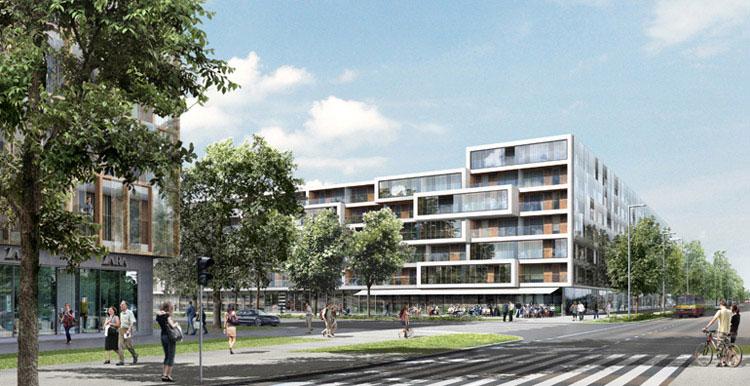 Projekt budynku wielorodzinnego w Warszawie
