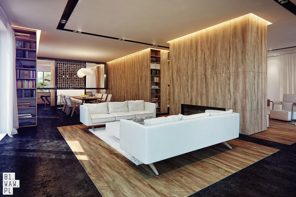 Modernistyczne wnętrze z nutką art deco - 81.WAW.PL