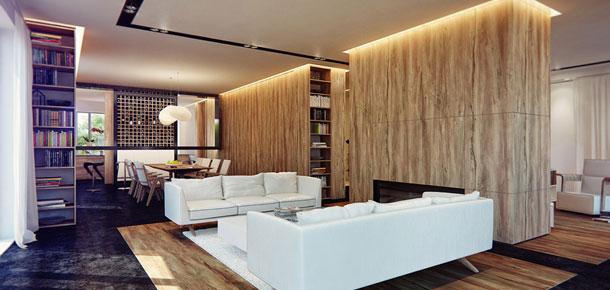 Modernistyczne wnętrze z nutką art deco