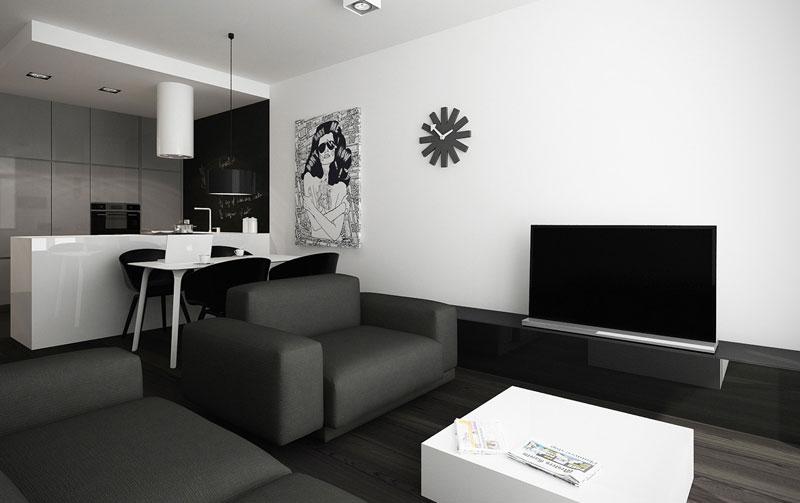 Projekt wnętrz apartamentu w Warszawie