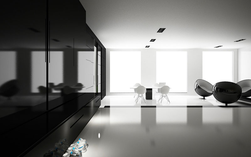 Projekt nowoczesnego wnętrza apartamentu