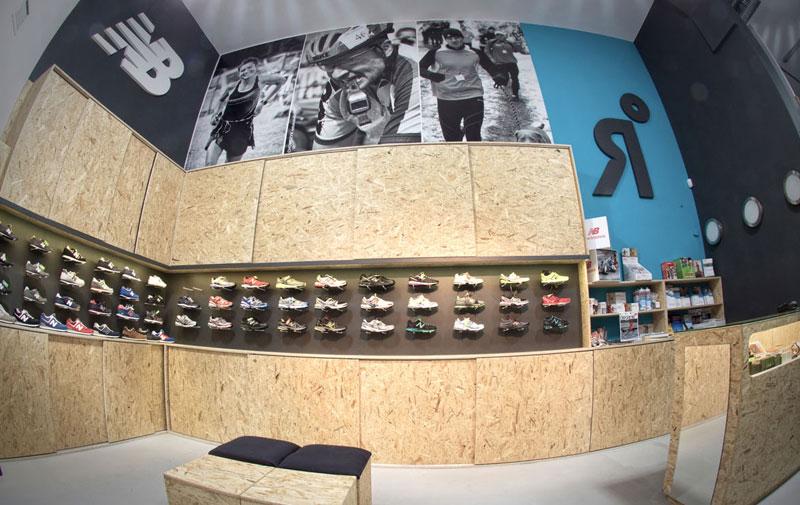 Projekt wnętrza sklepu z płyty OSB