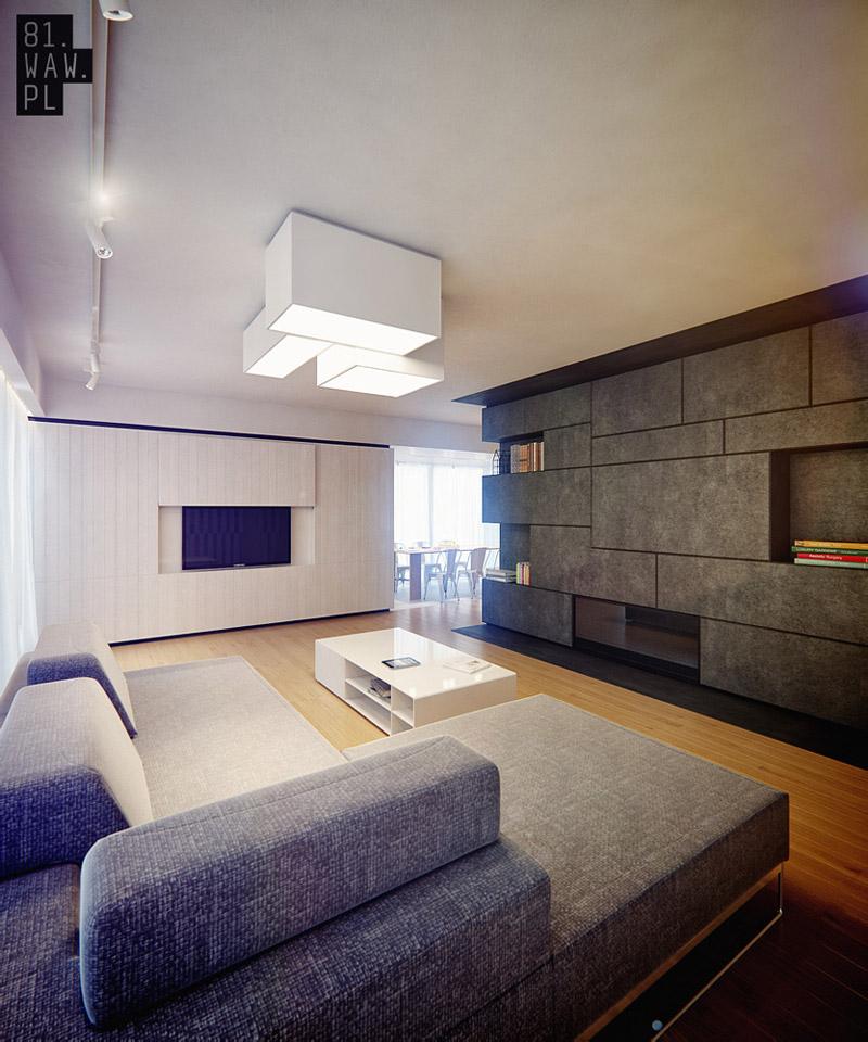 Projekt wnętrz domu w skandynawskim stylu