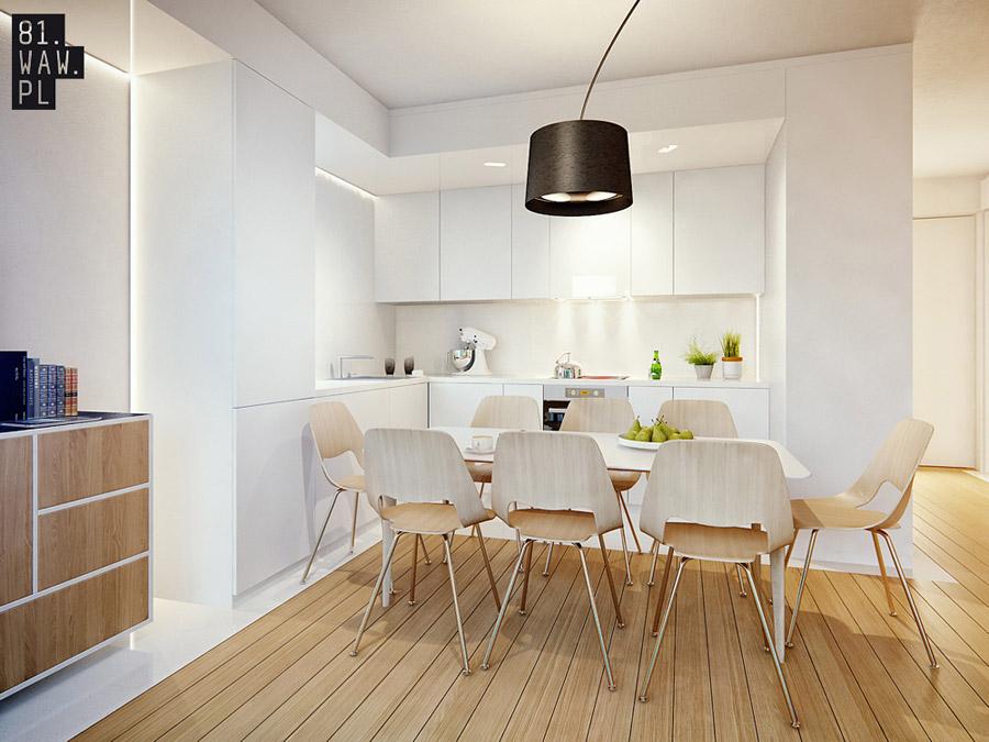 Projekt wnętrza mieszkania na osiedlu Melody Park