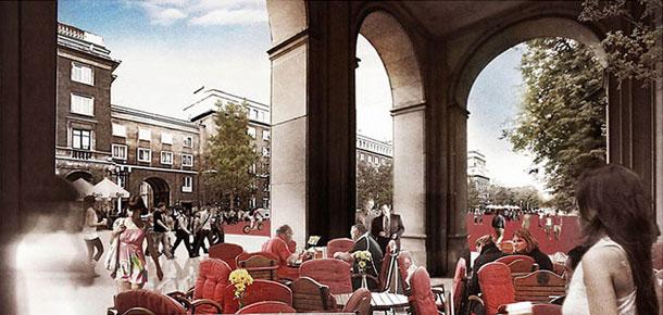 Rewitalizacja przestrzeni Nowej Huty w osi Alei Róż i Placu Centralnego