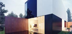 Dom na wysoki kontrast – dom własny architektów – KMA Kabarowski Misiura Architekci