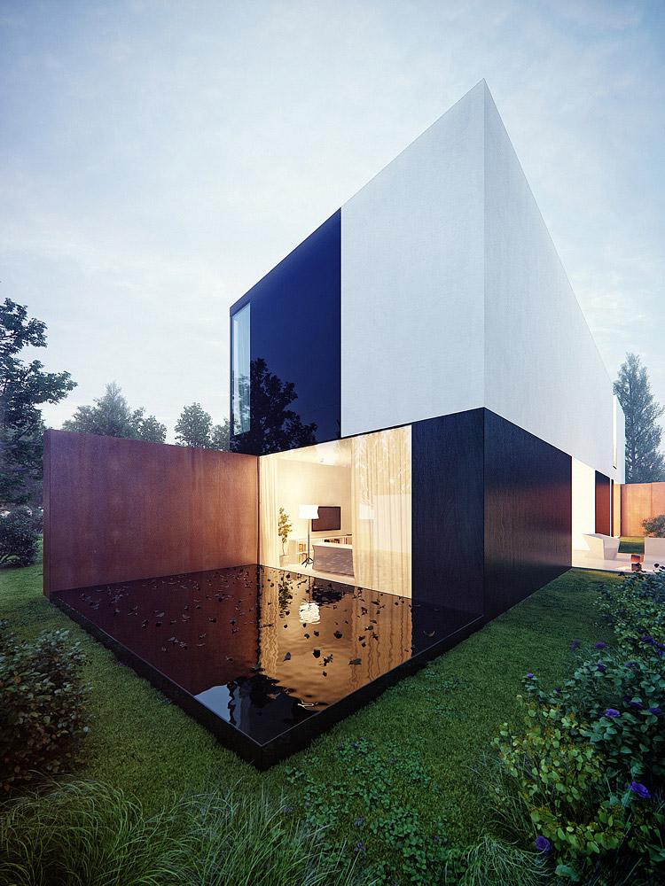 Projekt nowoczesnego domu jednorodzinnego