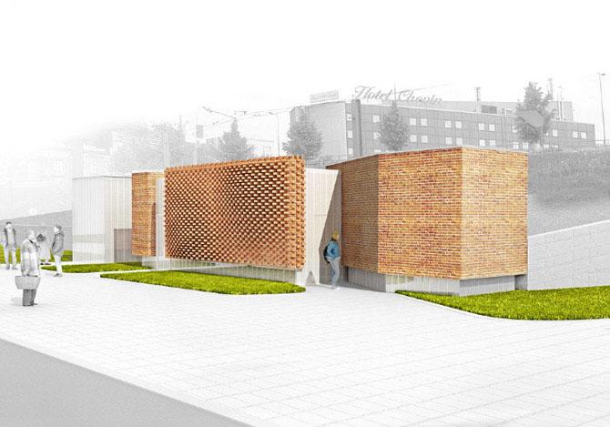 Projekt łazienki miejskiej