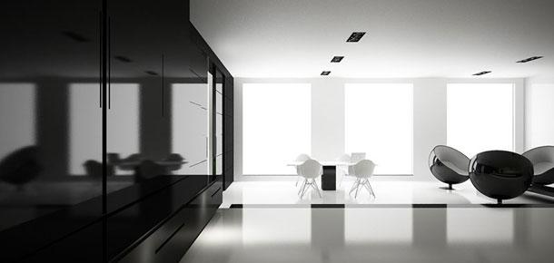 Monochrome - projekt wnętrza