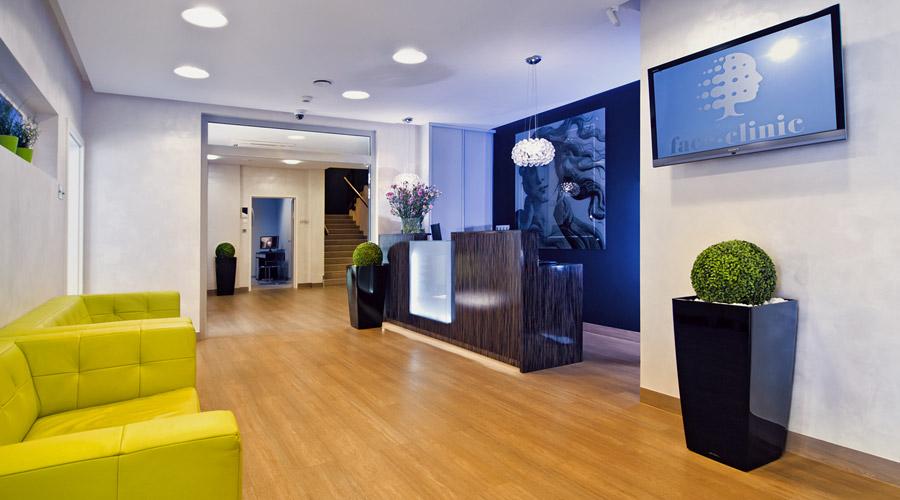 Projekt wnętrza gabinetu stomatologicznego Face Clinic