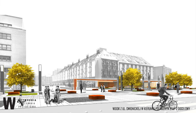 Projekt przejścia podziemnego we Wrocławiu