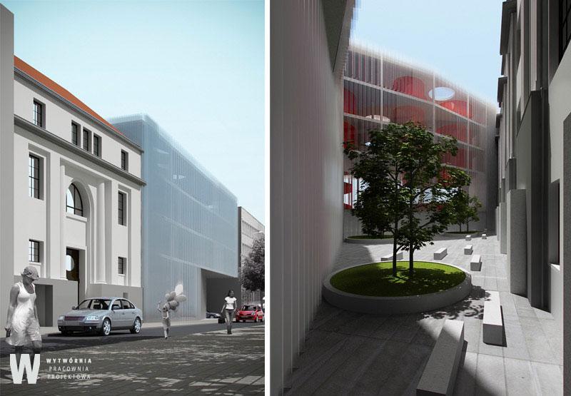 Projekt Akademii Sztuk Pięknych w Warszawie