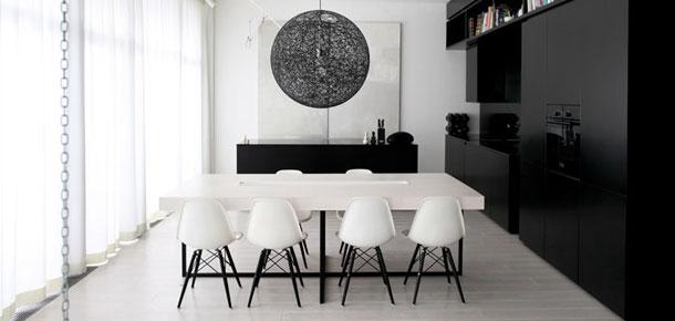 Biało-czarny apartament