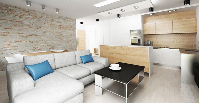 Projekt wnętrz mieszkania w Kwidzyniu