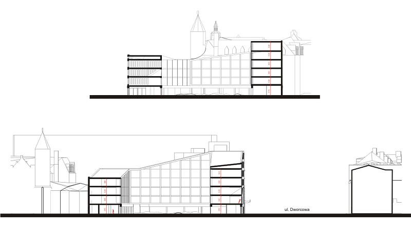 Projekt budynku przy ulicy Dolnych Wałów w Gliwicach
