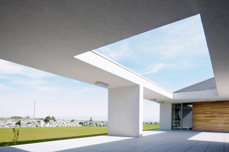 Dom Atrium w Pielgrzymowicach. Projekt: Mobius Architekci