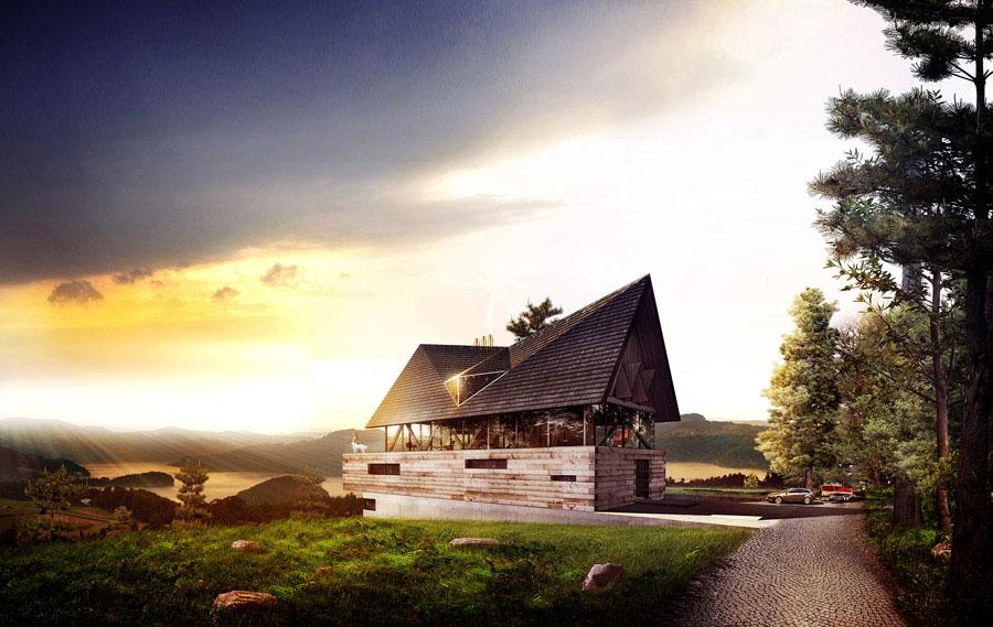 Dom Polski projektu BXB Studio