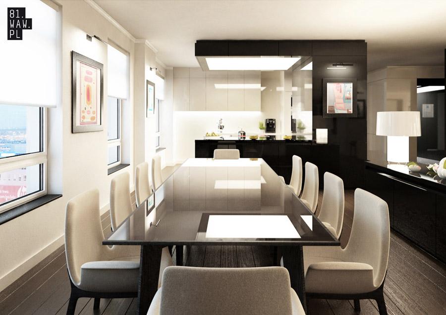 Projekt aranżacji wnętrz mieszkania w Warszawie