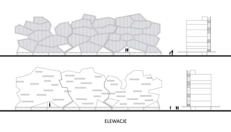 Zabudowa mieszkalna w Rudzie Śląskiej. Projekt: Adam Myczkowski