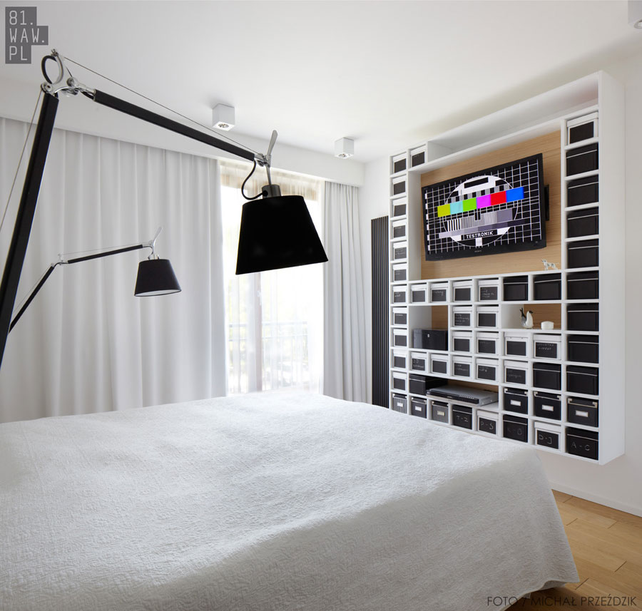 Projekt wnętrza sypialni