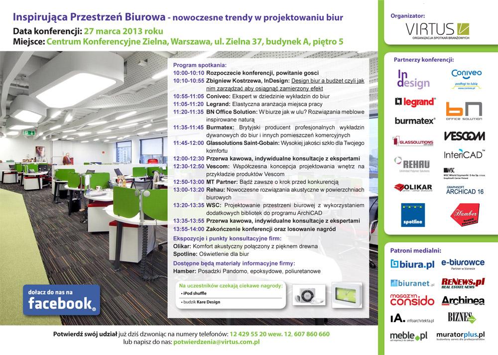 Konferencja Inspirująca Przestrzeń Biurowa