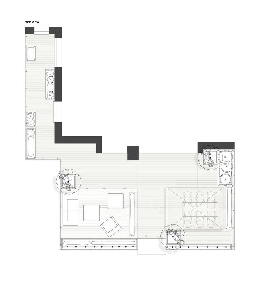 Projekt zabudowy tarasu. Autorzy: Studio Organic