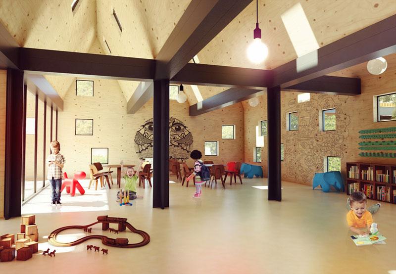 Przedszkole Modułowe. Projekt: Adam Wierciński