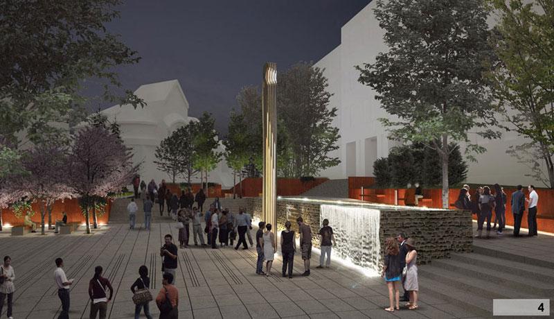 Otoczenie Pomnika Armii Krajowej w Olsztynie. Projekt: Domino Grupa Architektoniczna