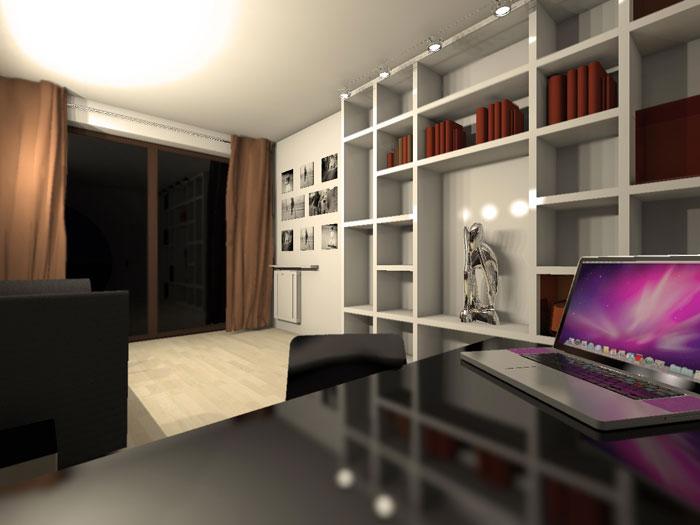 Wnętrze apartamentu. Projekt: Forma Alternatywna