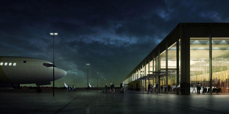 Terminal Portu Lotniczego w Szymanach. Projekt: Ideograf