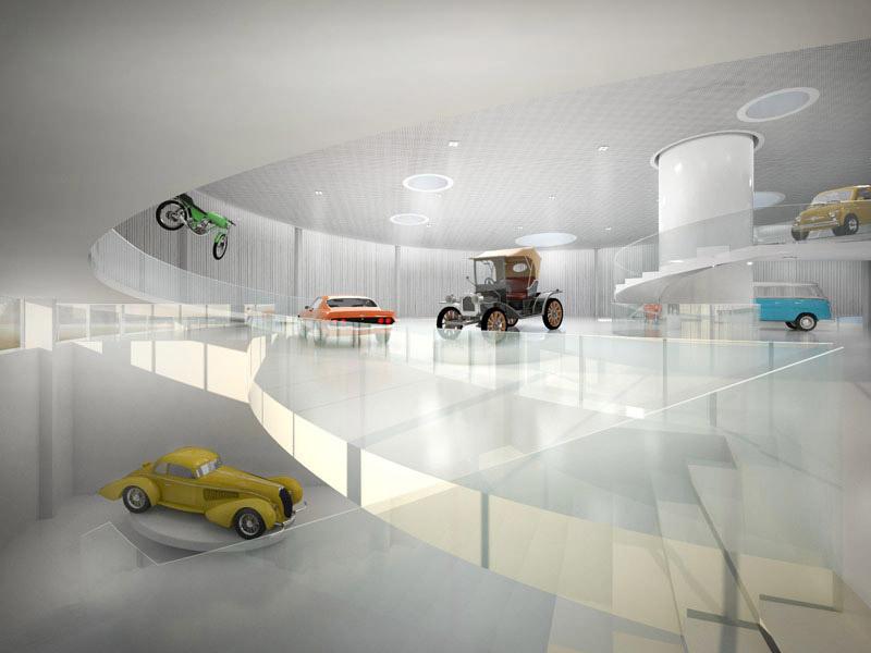 Pomorskie Muzeum Motoryzacji. Projekt: Jagiełło Krysiak Architekci