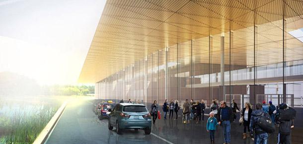 Terminal Portu Lotniczego w Szymanach. Projekt: Meteor Architects
