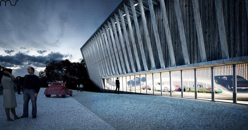 Pomorskie Muzeum Motoryzacji. Projekt: MUS Architects