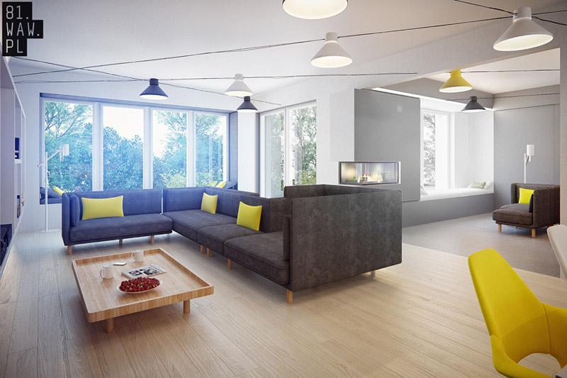 Dom w minimalistycznej odsłonie. Projekt: 81.WAW.PL