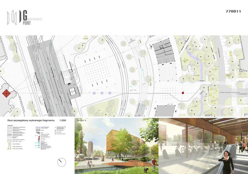 Plac Narutowicza w Warszawie. Projekt: Jeden Do Jeden