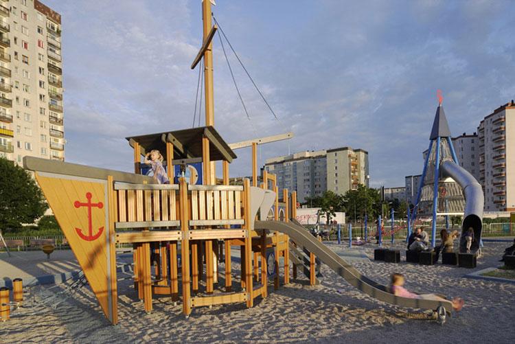 Park Nad Balatonem w Warszawie. Projekt: Piotr Hardecki Architekt