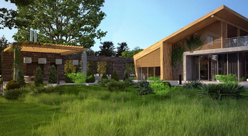 Dom w lesie. Projekt: Bracia Burawscy Architekci