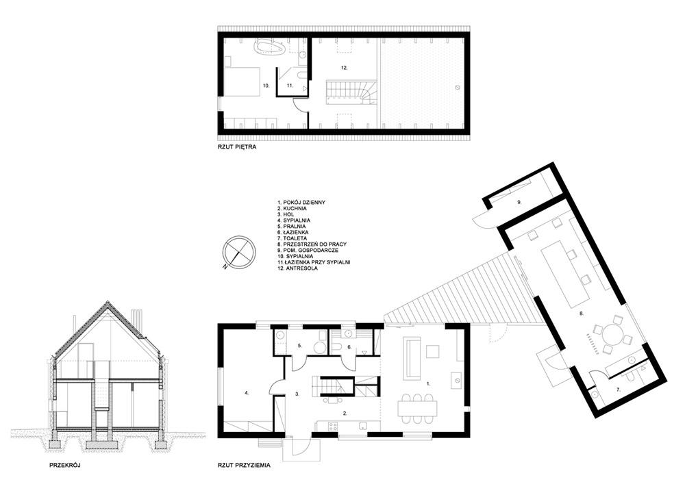 Dom własny z pracownią. Projekt: GRID Architekci