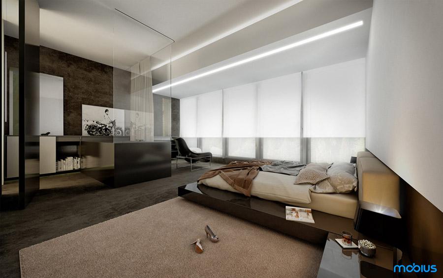 Wnętrza apartamentów Angel Wawel w Krakowie. Projekt: Mobius Architekci