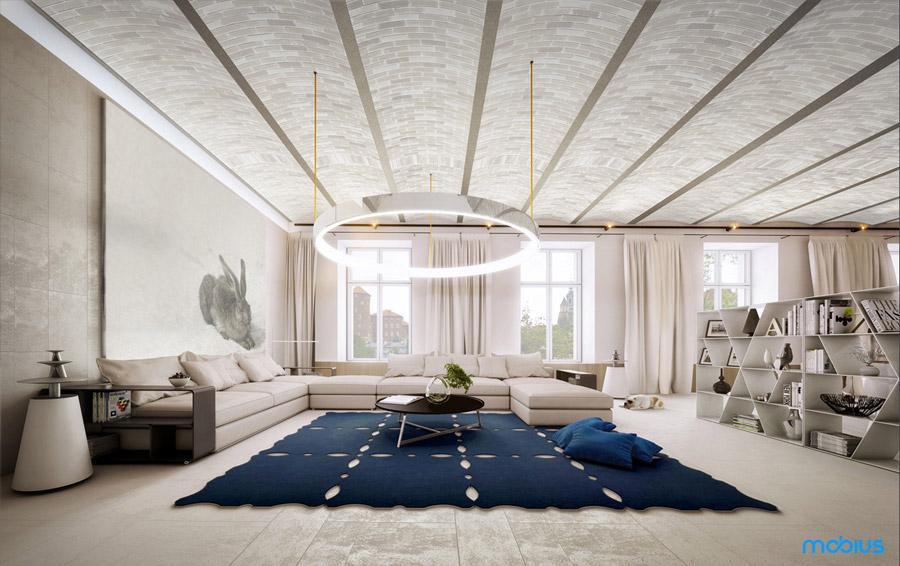 Apartament Angel Wawel w Krakowie. Projekt: Mobius Architekci