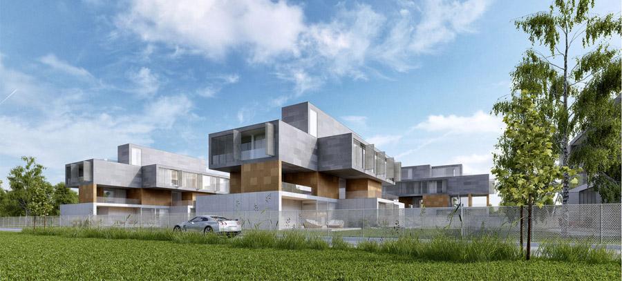 Budynki apartamentowe w Warszawie. Projekt: Mobius Architekci